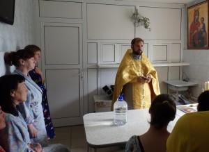 Молебен в больнице Иркутского областного психоневрологического диспансера
