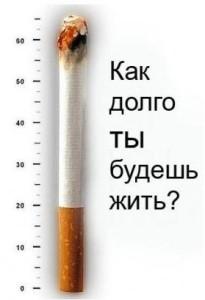 курение сокращает жизнь